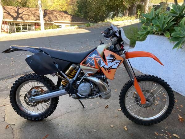 Photo 2001 KTM 250 EXC 2 Stroke CA Plated Dirt Bike Dual Sport - $4,000 (Pasadena)