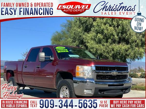 Photo 2008 Chevrolet Chevy Silverado 2500HD LT1 4WD 4dr Crew Cab SB (- $995.00 Down o.a.c. Buy Here - Pay Here)