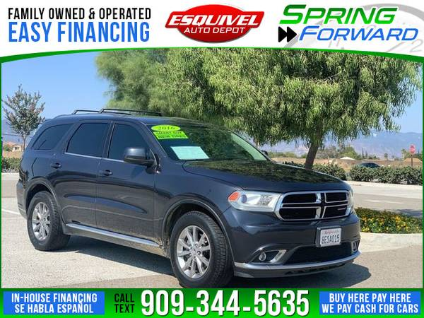 Photo 2016 Dodge Durango SXT Plus 4dr SUV (- $995.00 Down o.a.c. Buy Here - Pay Here)