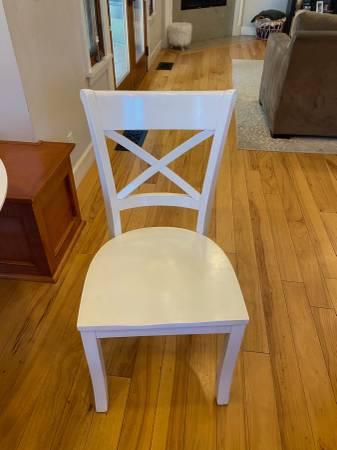 Photo (2) Crate  Barrel Vintner White Wood Dining Chairs-JL - $50 (Manhattan Beach)