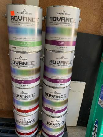 Photo Benjamin Moore Advance Waterbourne Interior Paint For Sale - $50 (626)