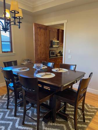 Photo Counter Height Solid Wood Dining table  Chairs-JL - $500 (Manhattan Beach)