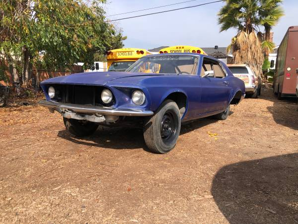 Photo DRAG CAR ROLLER 1969 Ford Mustang Coupe - $3,000 (Whittier)
