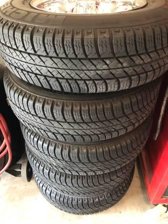Photo Early Mercedes Chrome Bundt wheels and tires - $800 (Fresno)