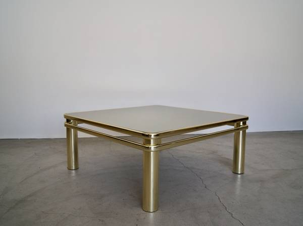 Photo Gorgeous 197039s Art Deco Hollywood Regency Brass Coffee Table - $600 (Burbank)
