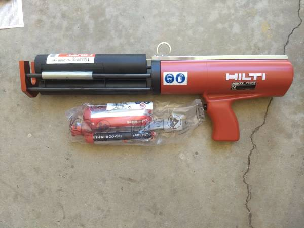 Photo Hilti HIT-P 3500F Pneumatic Epoxy Dispenser with cartridges and epoxy - $1,200 (GRANADA HILLS)