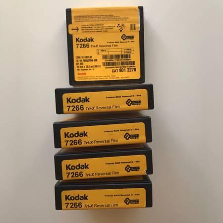 Photo Kodak Tri-X Black-and-White Reversal Film 7266 (16mm, 10039 Roll, Single Perf) - $60 (Los Angeles)