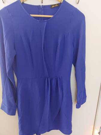 Photo Ladies Blue Dress Size M - $2 (West Hills Warner Center Canoga Park)