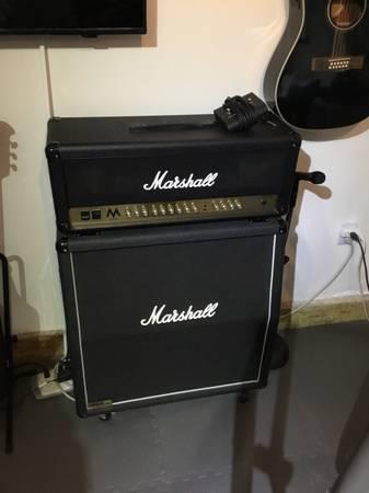 Photo Marshall MA 100W Amp w1960A 300W Cabinet - $850 (Cheviot Hills)