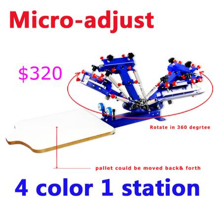 Photo Micro adjustable Screen Printer Silk Press Machine for Shirt 5 Models (Rancho Cucamonga)