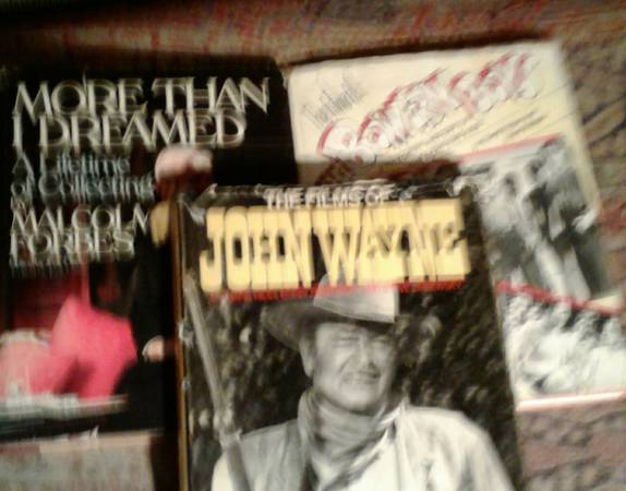 Photo Out of Print 3 Books Films of John Wayne Bowery Boys Malcom Forbes - $129 (Los Feliz Hollywood SilverLake)
