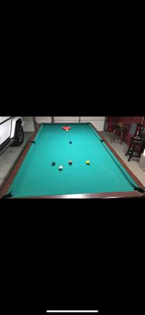 Photo Pool Table 10x5 Excellent condition. Need to sell fast - $700 (Granada Hills)