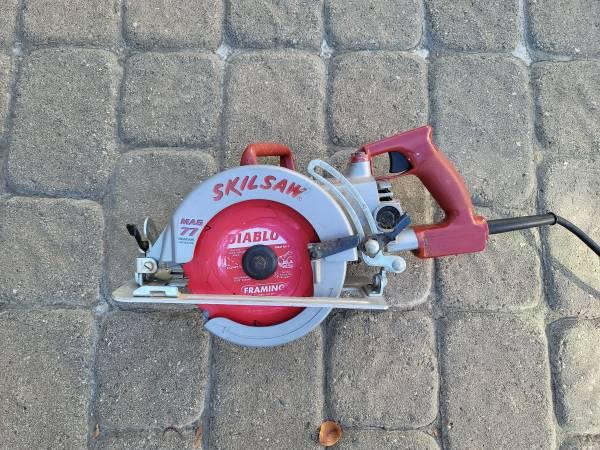 Photo Skilsaw Skil Saw MAG 77 Worm Drive, Circular Saw Used 5 times at home - $125 (San Marino)
