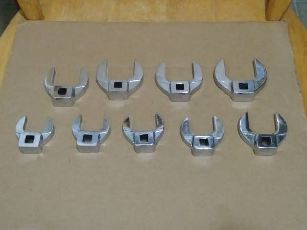Photo Snap-On 9 Piece, 38 Drive SAE Open End Crowfoot Wrench Set(1quot-1-12quot) - $300 (Hawthorne)