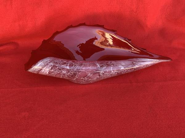 Photo VINTAGE RED MURANO GLASS CONCH 16quot SHELL BOWL - $115 (Rancho Palos Verdes)