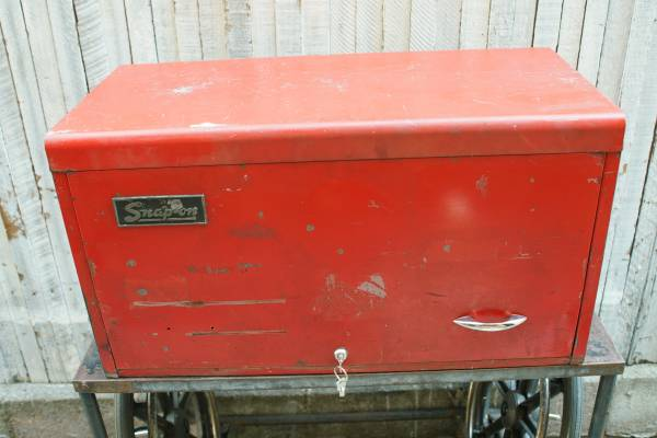 Photo VINTAGE SNAP-ON 9 Drawer Top Cabinet Tool Box 31x15x17 TOOLS Snapon - $300 (West Hollywood)
