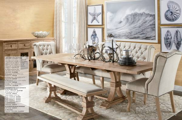 Z Gallerie Archer Style Dining Table