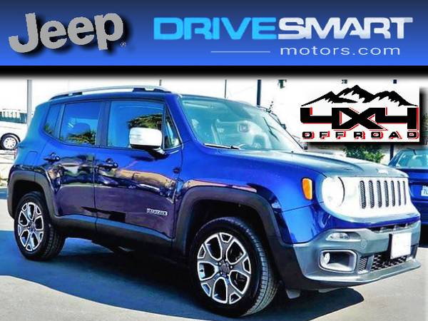 Photo quotJEEP 4X4quot  2016 JEEP RENEGADE LIMITED 4X4 43K MILES BAD CREDIT OK - $16,997 (CREDIT PROBLEMS CALL THE 1 YELP DEALER 562-384-4498)