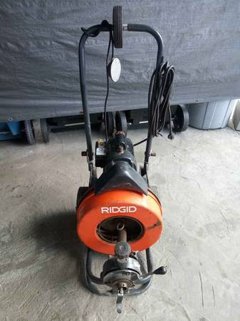 Photo ridgid 150 plumbing sewer snake machine - $1200