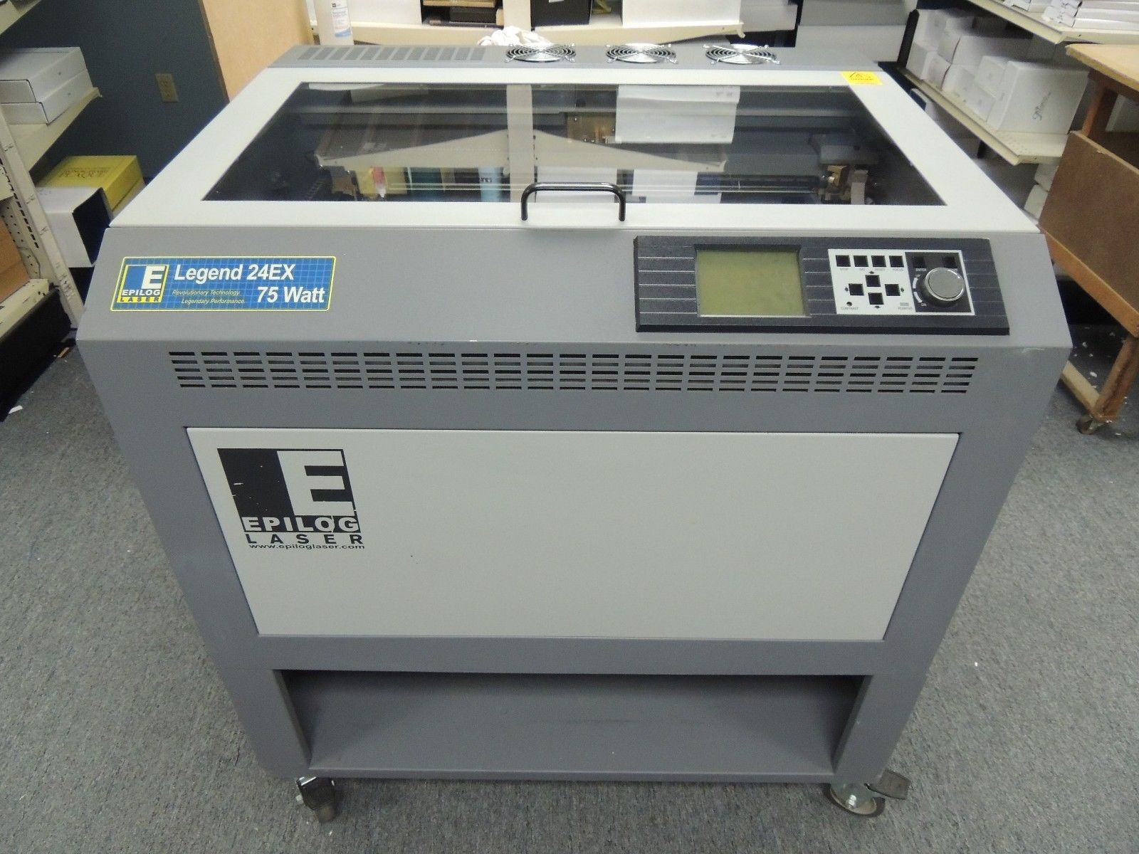 Photo Epilog Legend 24EX 75 Watt Laser Engraving Machine with Computer  Software