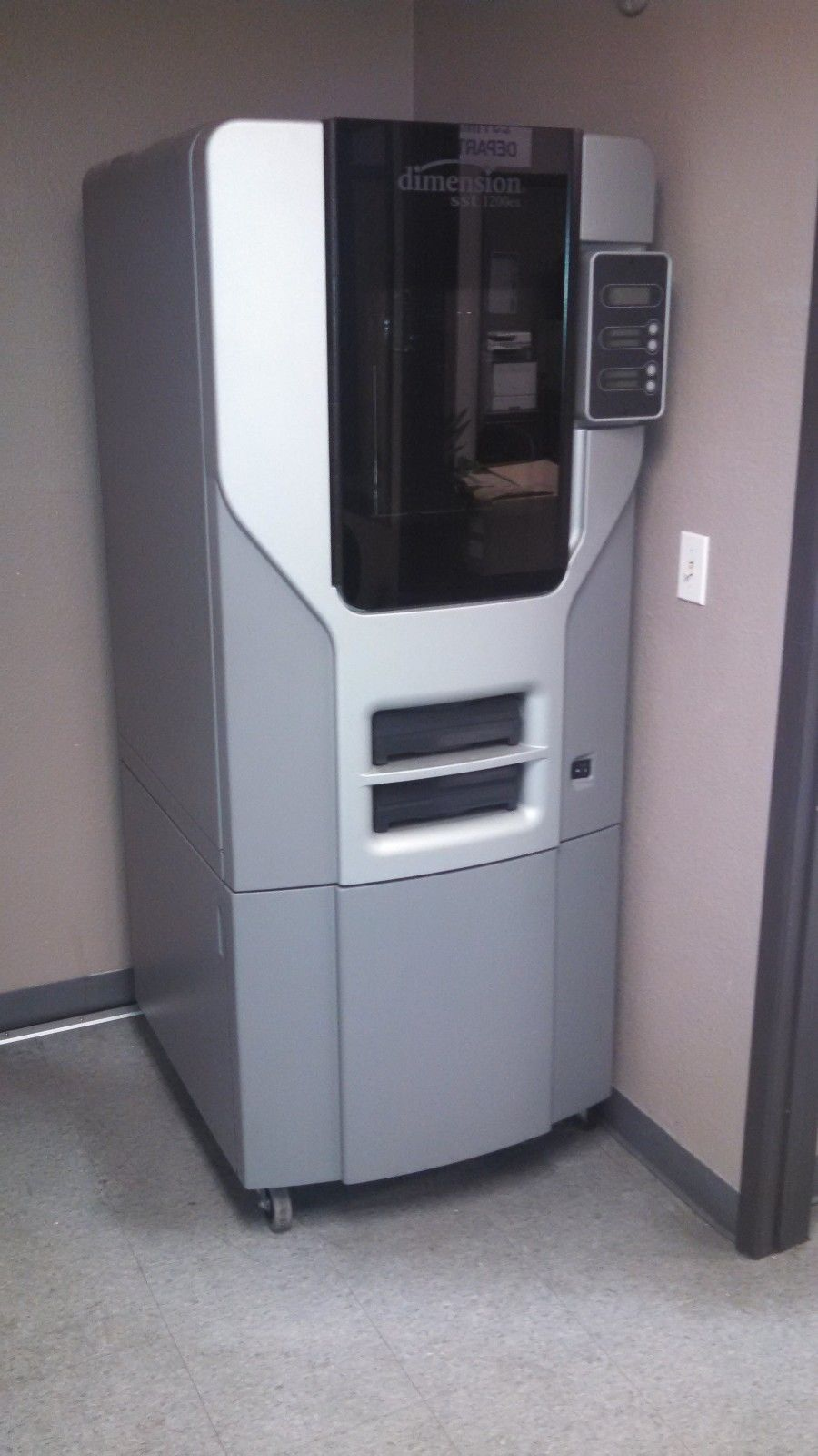 Photo Stratasys Dimension SST 1200es 3D Printer with Support Cleaning Apparatus and Stand