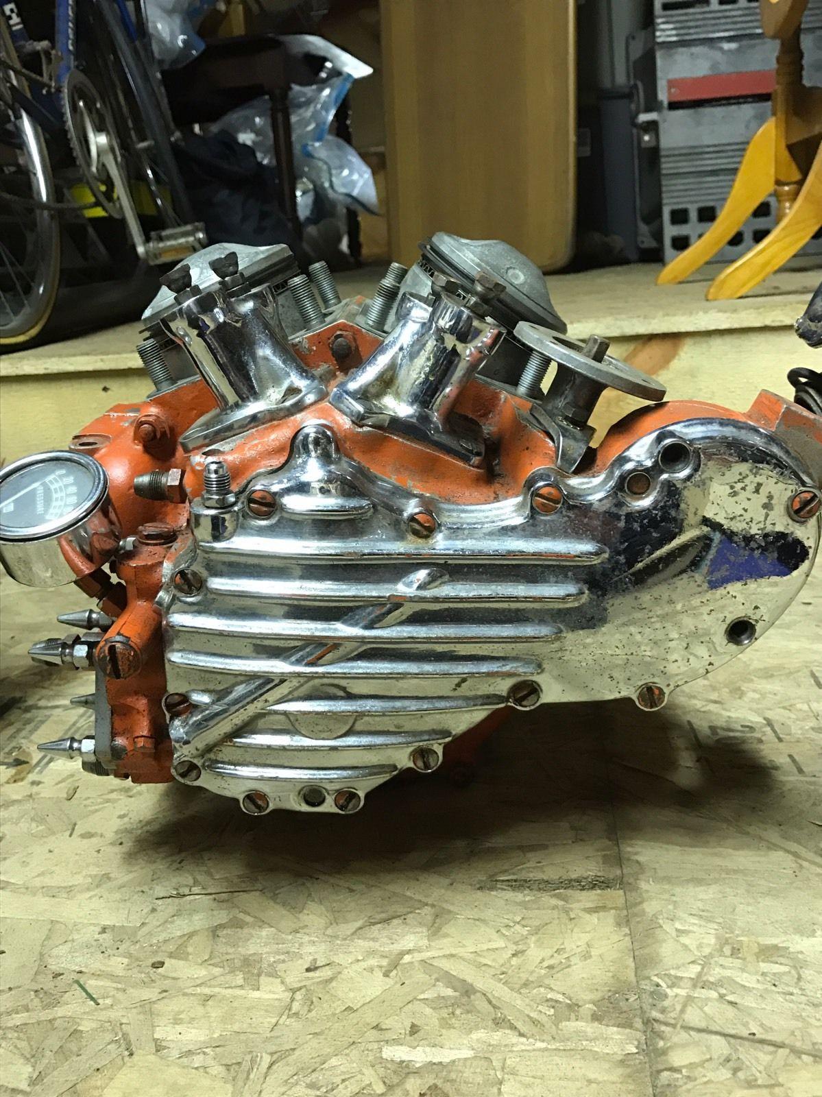 Photo 1947 74 Harley Knucklehead Engine And Tranny