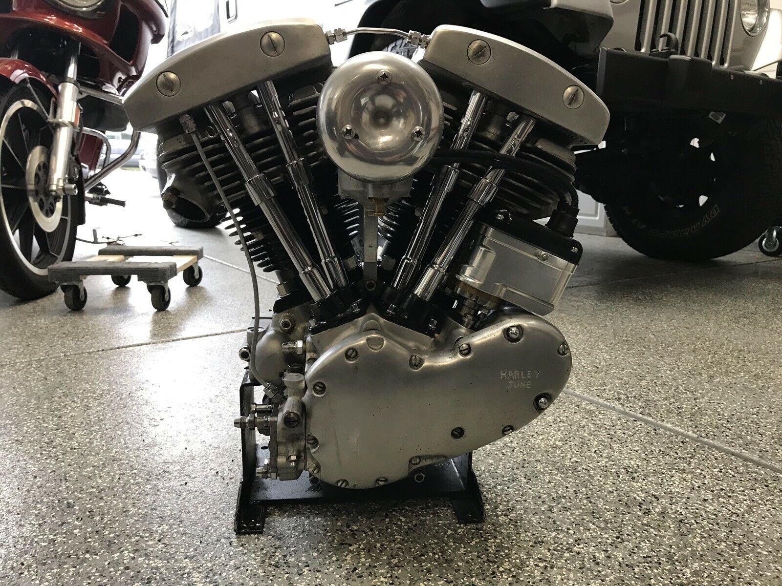 Photo 1952 Harley Davidson Panhead Shovelhead Knucklehead Engine