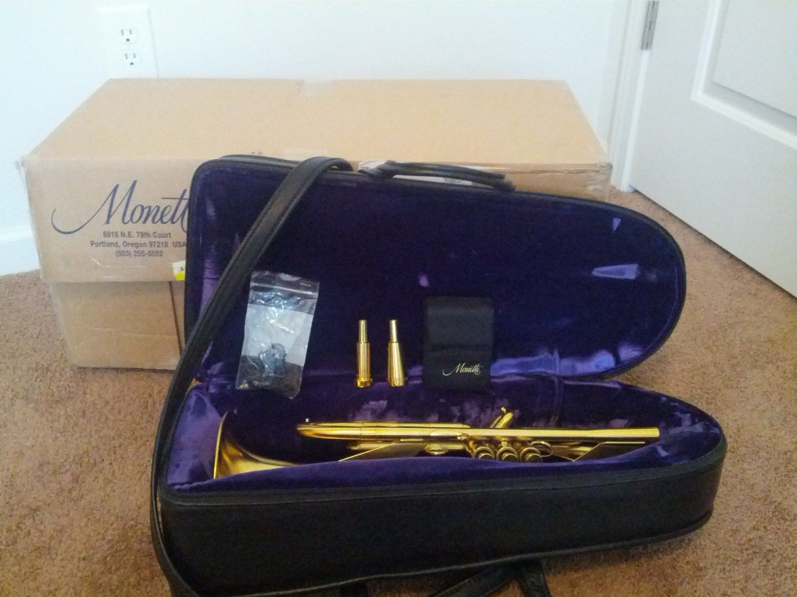 Photo Monette Ajna II Gold Plated Trumpet