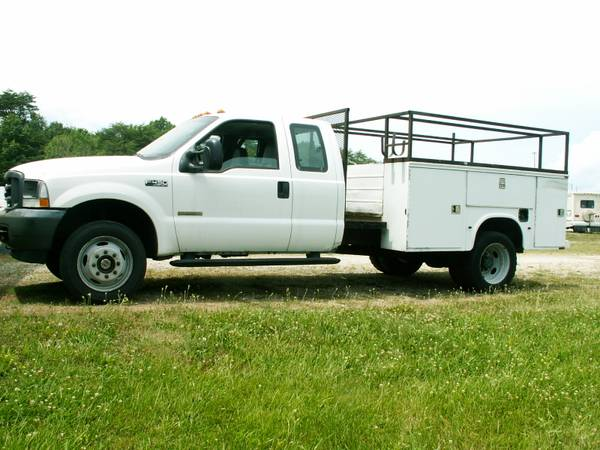 Photo 2003 F450 4x4 Super Cab Dually Diesel Utility bed Super Duty Ford - $8975 (Memphis, Indiana)