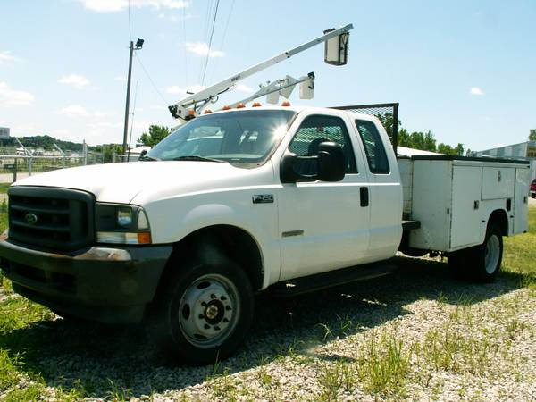 Photo 2003 F450 4x4 Super Cab Dually Diesel Utility bed Super Duty Ford - $8,975 (Memphis, Indiana)