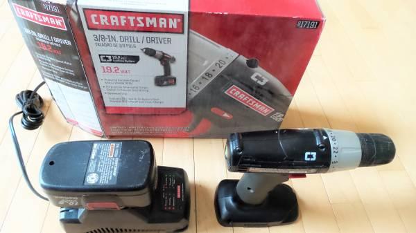 Photo Craftsman Drill 19.2V 38-IN DrillDriver C3 -  917191 - $45 (Lanesville, IN)