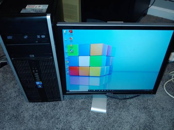 Photo Desktop Computer HP Intel quad core cpu ,4gb ram ,Windows 10 , office - $120 (East Louisville)