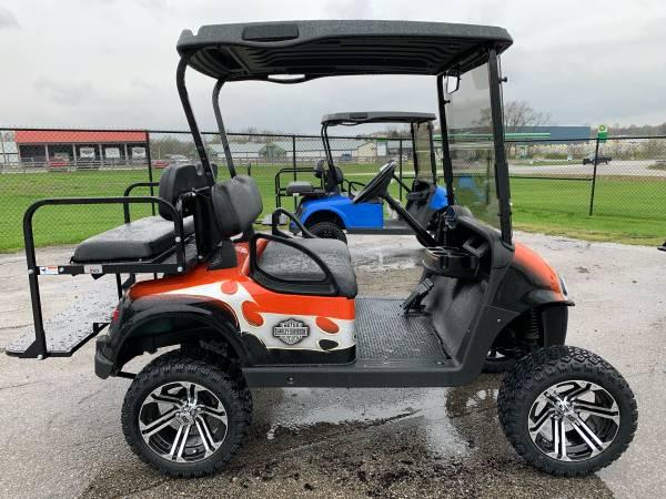 Photo Harley Davidson themed gas golf cart - $5985 (Lawrenceburg)