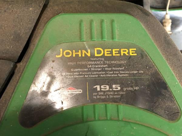 Photo John Deere LA 105 riding lawn mower with utility trailer - $650 (La Grange)