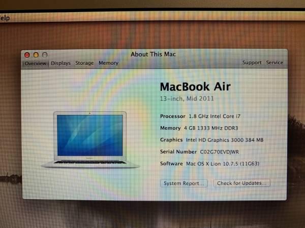 Photo MacBook Air 13 mid 2011 - $200 (Jeffersonville IN)