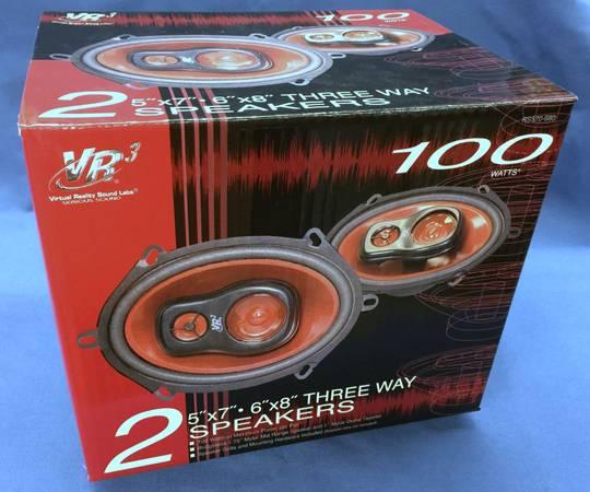Photo NEW VR-3 5 X 7 Three Way Car Speaker Pair - 4 ohm  100W Peak - $15