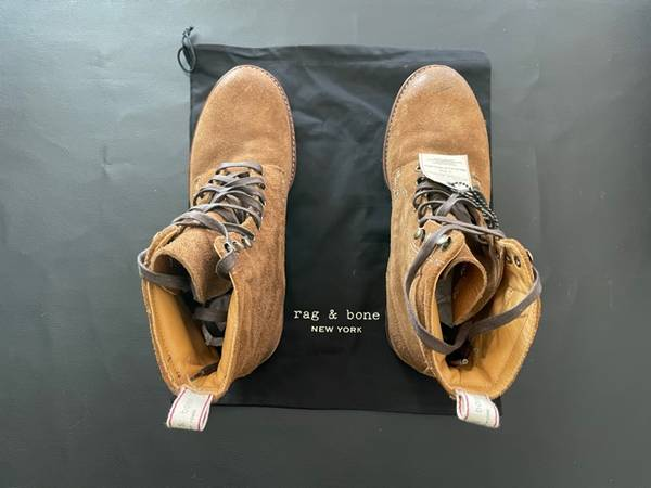 Photo Rag and Bone Men39s 39Officer Boot39 ... Tan, size 10, MINT CONDITION - $250 (Crestwood)