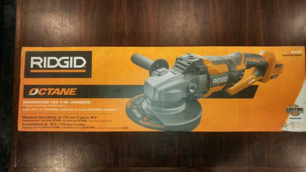 Photo Ridgid 18-Volt OCTANE Cordless Brushless 7 in. Dual Angle Grinder - $175 (Prospect)