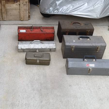 Photo Tool Boxes- Old Metal - $40 (Bardstown, Ky.)
