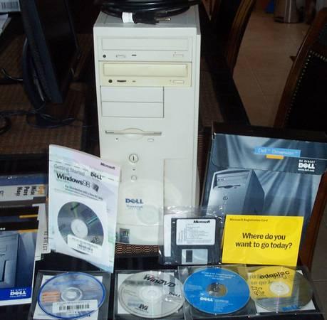 Photo Vintage Dell Dimension XPS Gaming PC Windows 98 SE Software - $249 (Crestwood)