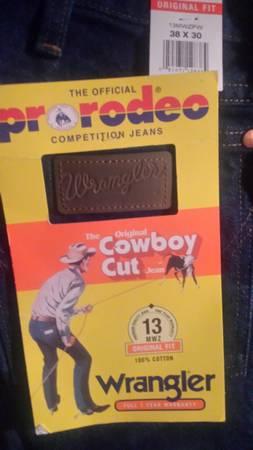 Photo Wrangler Pro Rodeo Cowboy Cut Men39s Jeans 38 X 30 - $20 (Okolona)