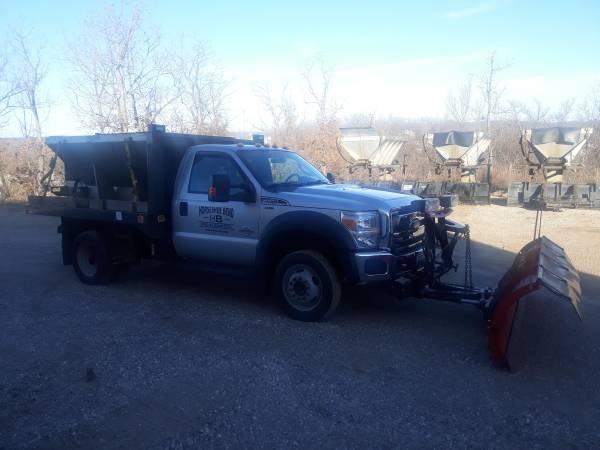 Photo 2014 F-550, Diesel, Western Snow Plow, Swenson Spreader - $1 (Village of Four Seasons)