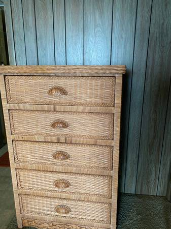 Photo Complete wicker bedroom set - $300 (Camdenton)