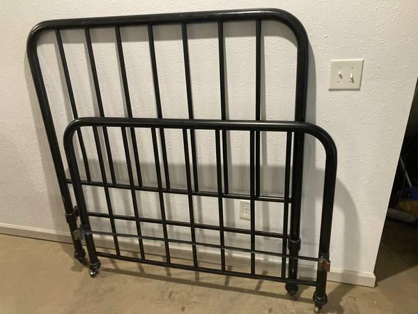 Photo Full-Size Iron Bed Frame - $25 (Osage Beach)