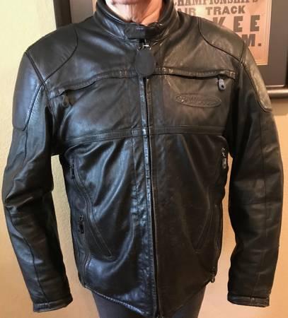 Photo Harley Davidson mens jackets,chaps, and vest...leather, nylon, denim, - $1 (Lake of the Ozarks)