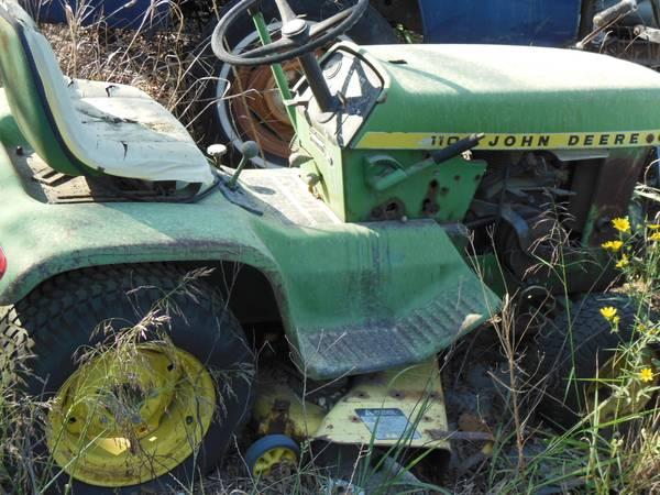 Photo John Deere 110 Garden Tractor Parts or Restor - $300 (Cross Timbers)