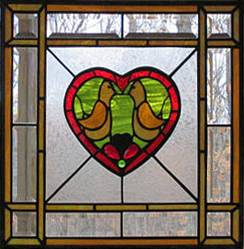 Photo Stained Glass window Panel - $95 (House Springs)