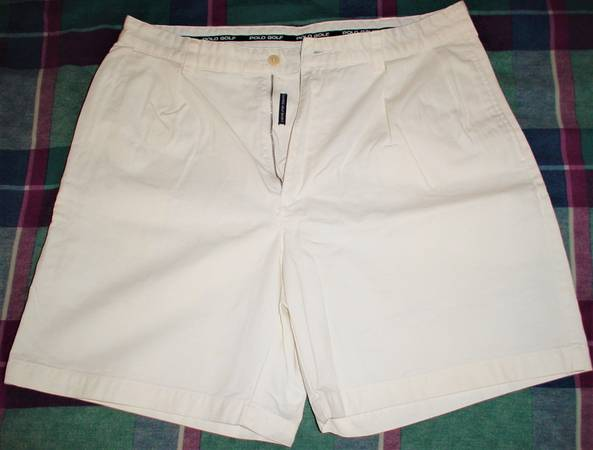 Photo Vintage Polo Classic Golf Shorts White waist 35 Great Condition Clean - $12