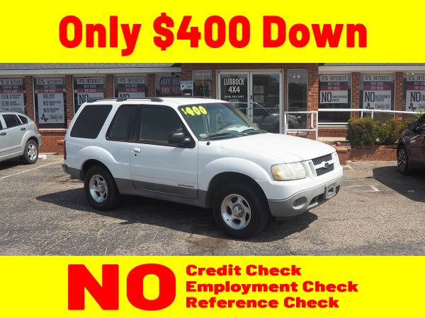 Photo 2001 WHITE FORD EXPLORER for $400 Down - $4,600 (Lubbock)