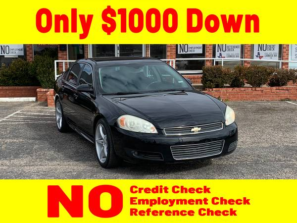 Photo 2010 BLACK CHEVROLET IMPALA for $1000 Down - $9,100 (Lubbock)